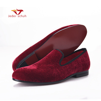 2017 basic style velvet Loafers mens dress shoes genuine leather flat shoes plus size US6 14 free shipping