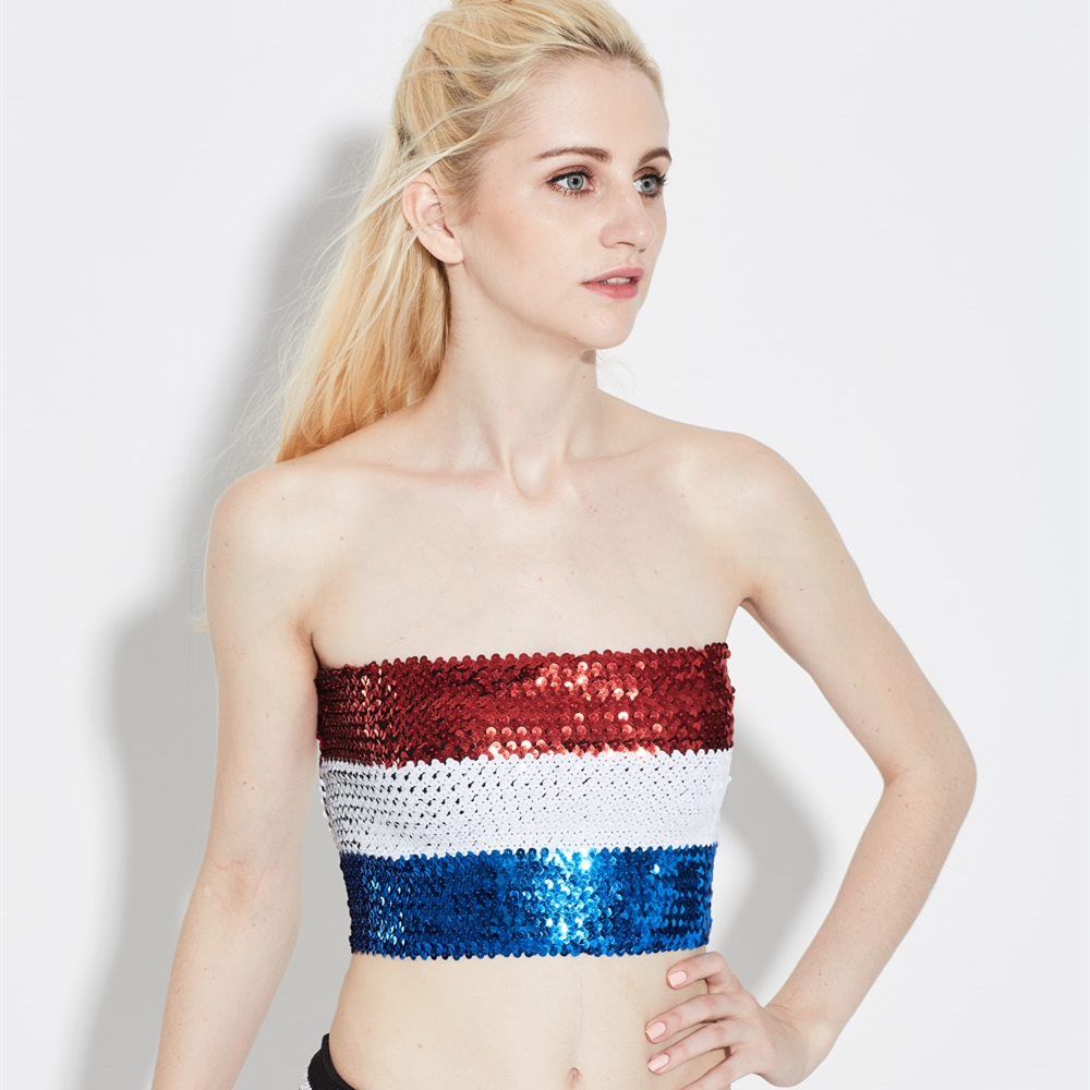 Sequined Boob Tubes Wholesale