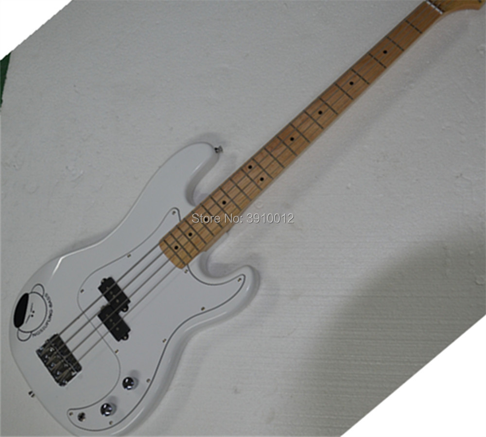 Factory Custom White top quality 4 Strings Electric Bass Guitar Offer Customized in Guitar from Sports Entertainment