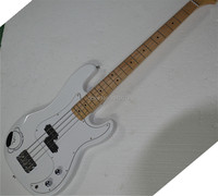 Factory Custom White top quality 4 Strings Electric Bass Guitar,Offer Customized