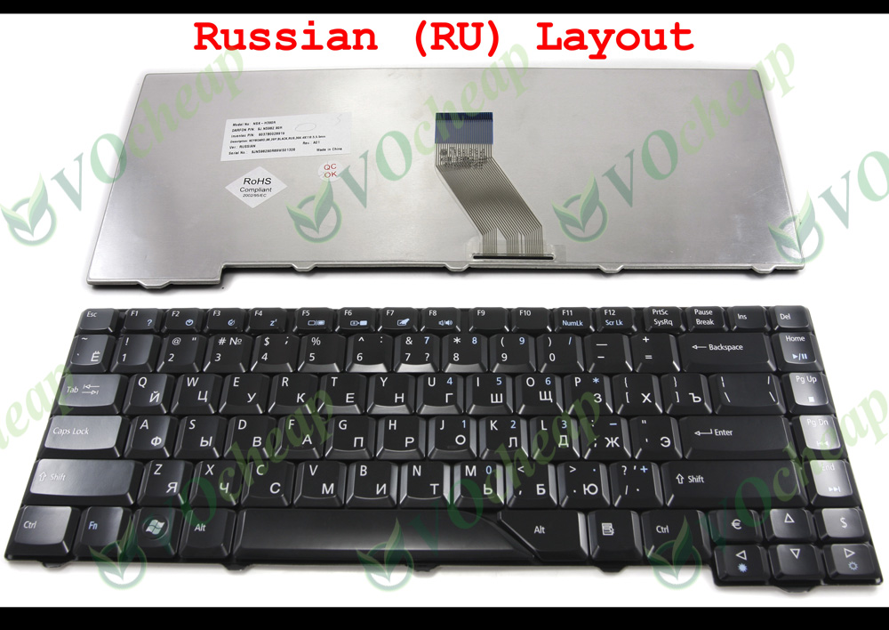 Ru Laptop Keyboard For Acer Aspire 4210 4220 4520 4710