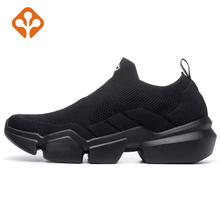 купить 2019 Mens Outdoor Gym Running Trekking Shoes Sneakers Trainers For Men Thick Sole Sport Fitness Run Jogging Shoes Sneakers Man дешево