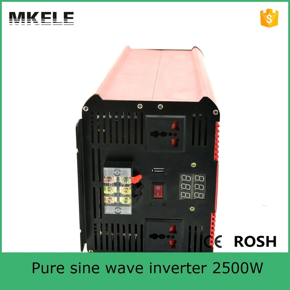 цена на MKP2500-122R Pure sine wave form 2500W best inverter 12v dc 240v ac,12v dc to 200v ac inverter micro inverter made in China