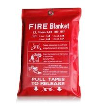 1 м х 1 м пожарное одеяло стекловолокно противопожарное средство аварийное Выживание белый огонь укрытие Защитная крышка в случае пожара, при пожаре одеяло