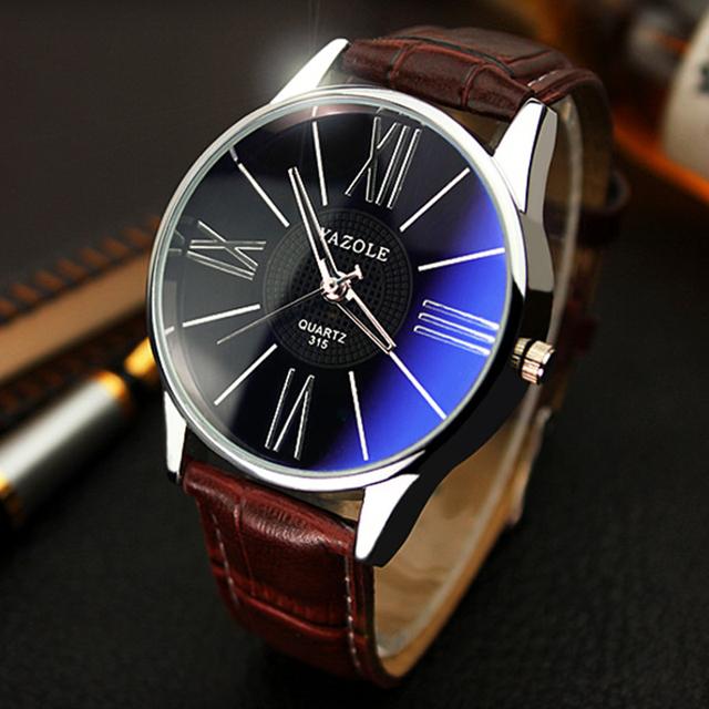 Men Fashion Business Quartz-watch Minimalist Belt