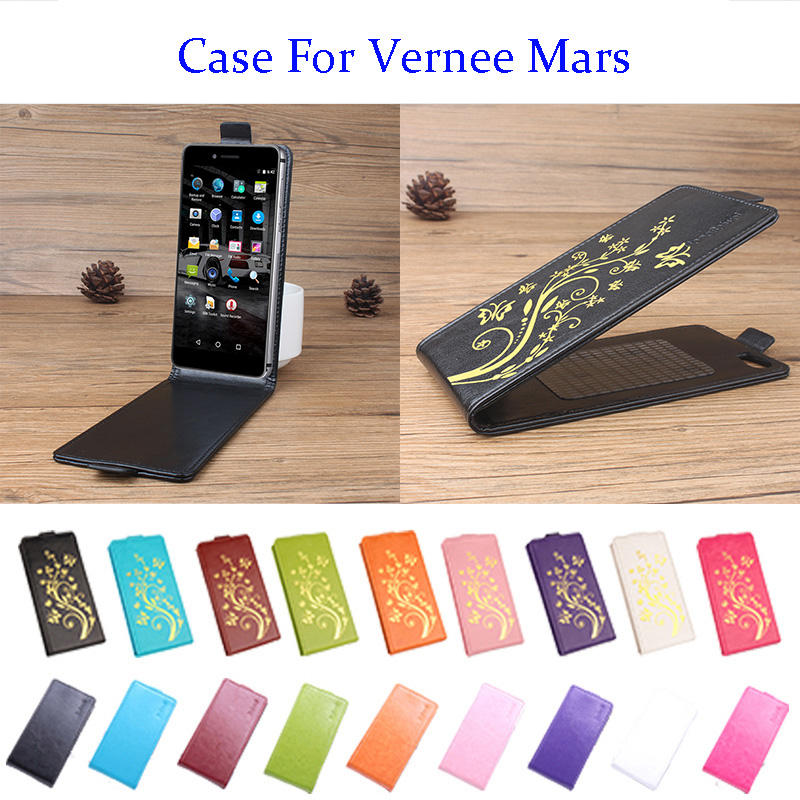 5.5 Inch 9 Color Golden Flowers For Case For Vernee Mars Cover Leather Case For Case For ...