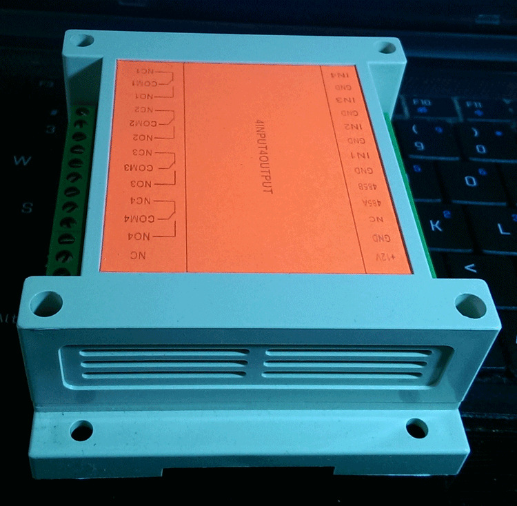 MODBUS RTU protocol 4 into 4 out of the control relay module RS485 switch input and output module of PLCMODBUS RTU protocol 4 into 4 out of the control relay module RS485 switch input and output module of PLC