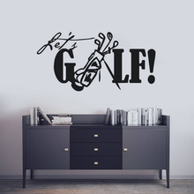 Removable Golf Wall Decal Lets Quote Sticker Sports Club Mural Home Decor Creative Vinyl Decals AY1406
