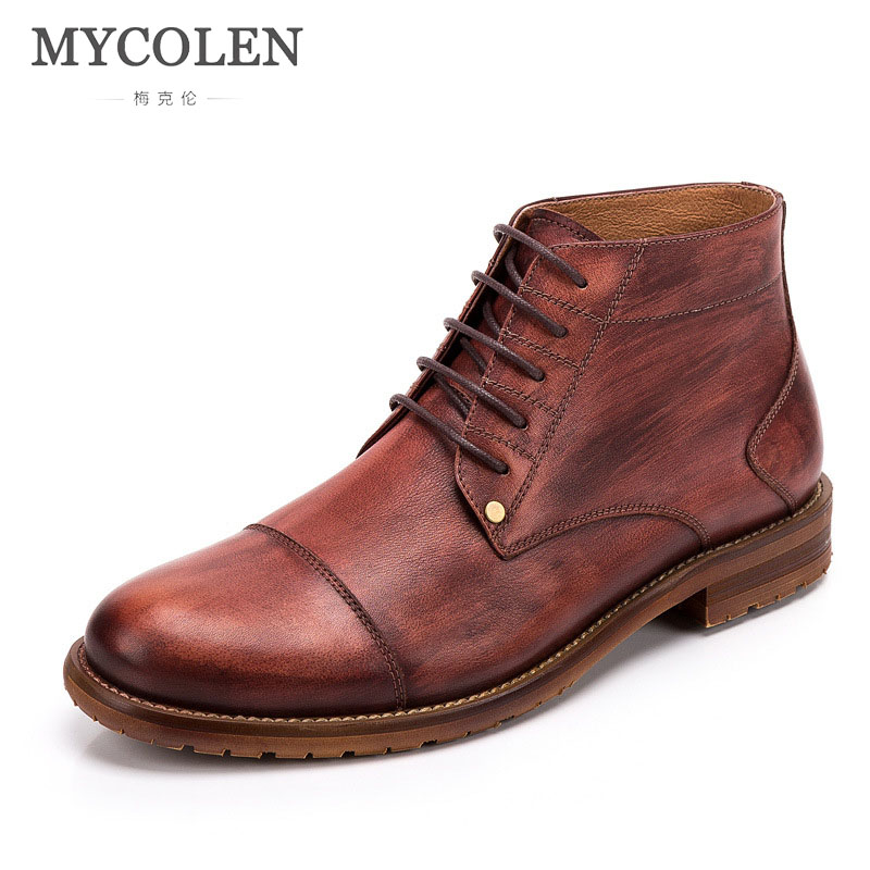 MYCOLEN 2018 New Mens Winter Shoes Fashion Men Boots Luxury Designers Round Toe Casual Men Shoes Winter Men Boots laarzen автомагнитола prology cmx 130 usb sd mmc