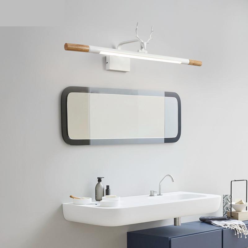 Nordic зеркало налобный фонарь светодио дный водостойкий светодиодный Туалет Ванная комната Зеркало Кабинет лампа лаконичный современное тр