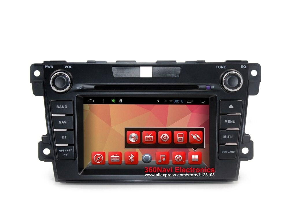 Octa base Android 7.1 Voiture DVD GPS pour Mazda CX-7 2008-2012 Autoradio GPS avec BT Radio RDS Wifi miroir-lien 8 gb carte carte
