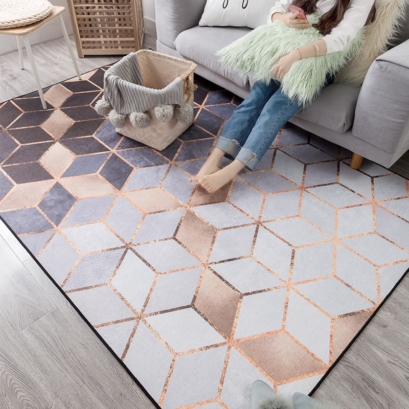 2018 New Modern Chenille Soft Carpets For Living Room Bedroom Rugs Metal Style Area Rug Home Carpet Floor Door Mat Delicate Mats