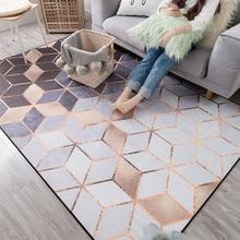 2018 nuevas alfombras suaves de chenilla modernas para sala de estar alfombras de dormitorio de estilo metálico alfombra de área alfombra de piso alfombra de Casa alfombras delicadas