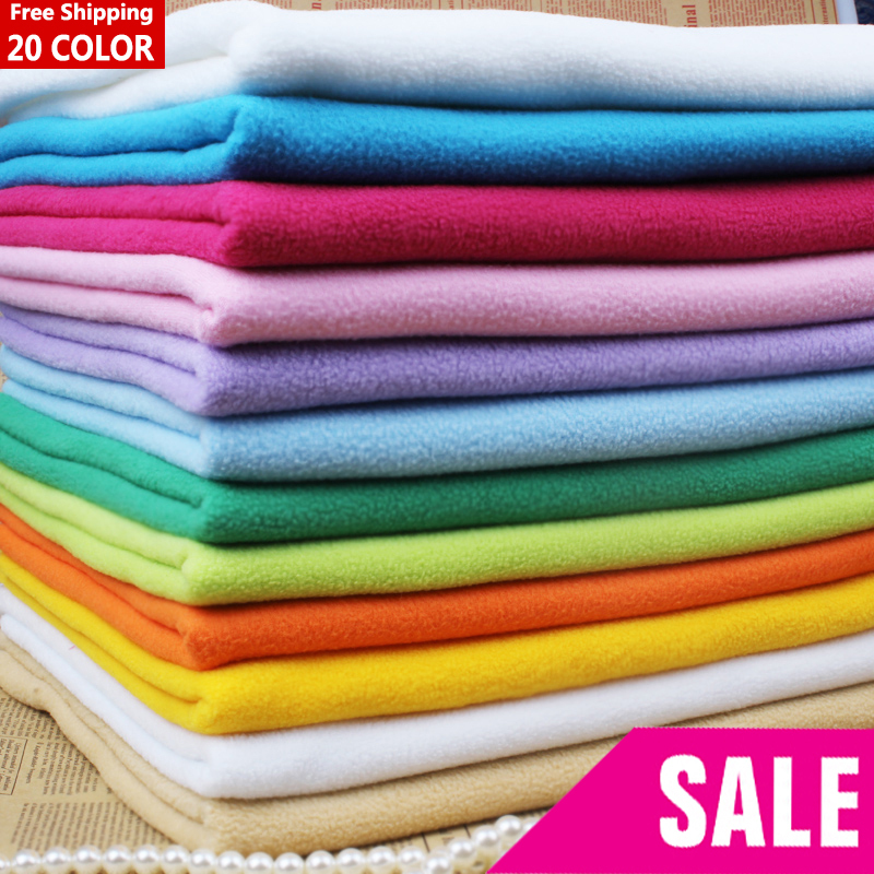 20 color soft flannelet material 1 1 6 yards solid color for Spaceship fleece fabric