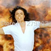 SexeMara MJ Майкл костюм Джексон Классический Billie Jean v-образным вырезом хлопок белая футболка футболки нижнее белье