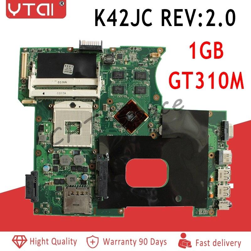 K42JC Motherboard REV:2.0 GT310M For ASUS A42J K42J X42j A40J Laptop Motherboard K42JC Mainboard Free VGA Board 100% Test