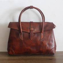 Women Vintage Genuine Leather Bags Handbags Women Famous Brands Casual Women Bags Tote Brand Shoulder Bag Ladies Original Bolsos стоимость
