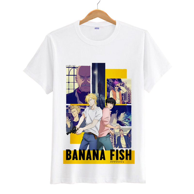 Anime Banana Fish Women Men Cartoon   T     Shirts   Short Sleeves Men's Tops Casual   T     Shirts   Short Tees