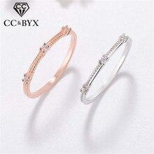 CC серебряные кольца для женщин простые элегантные 3 кубического циркония сверла хвост кольцо с камнем Свадебные помолвки ювелирные изделия Прямая CC1478