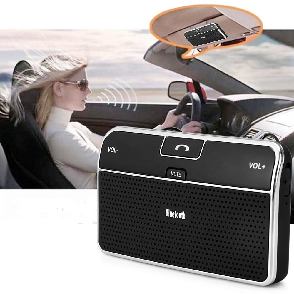 New Universal Phone Speaker Bluetooth 4.0 Car Bluetooth Receiver Speakerphone Handsfree Bluetooth Adapter 3.5mm for Phone Tablet universal bluetooth v3 0 wireless handsfree speaker phone speaker