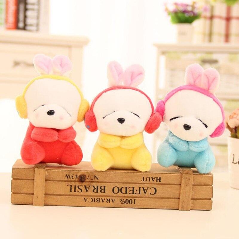 1 Pcs Lovely Rabbit With Headset Plush Toy Wedding Decoration Kid Gift Staffed Animal