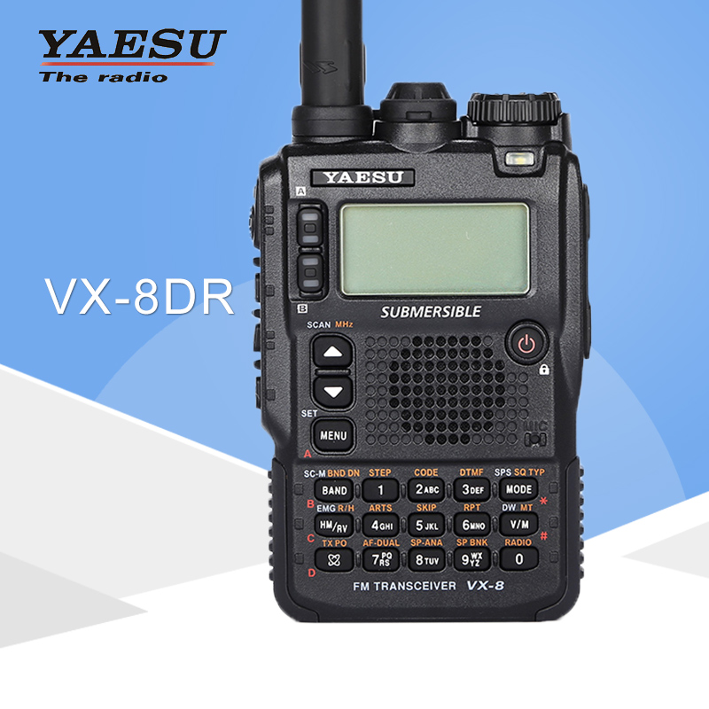 General Walkie Talkie Yaesu VX-8DR Three-band 140-174/420-470MHz Waterproof Handheld FM Ham Two-way Radio Transceiver