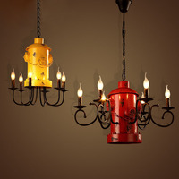 Coffee shop room living room American style country pendant light retro industrial wind bar clothing shop fire fight lamp ya7294