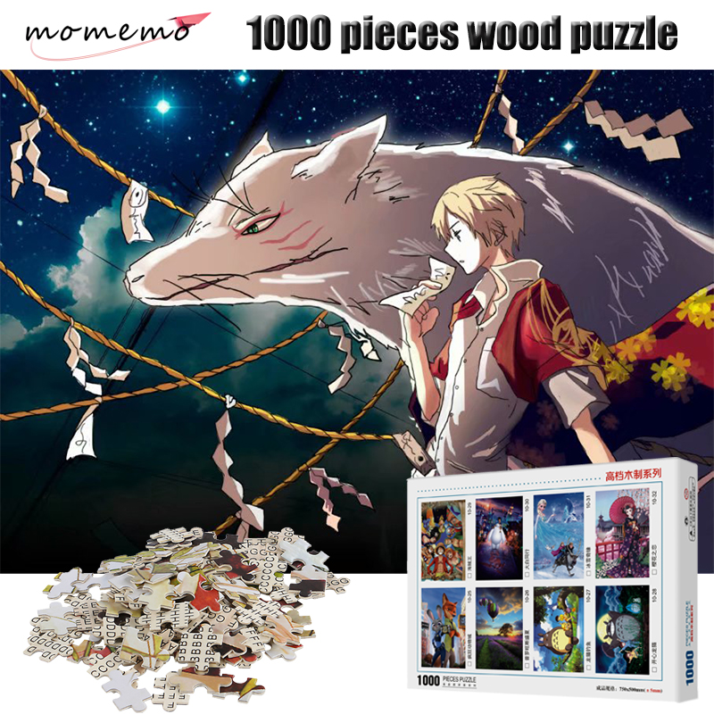 MOMEMO Natsume's Book Of Friends 1000 Pieces Jigsaw Puzzle High Definition Cartoon Anime Wooden Puzzles 1000 Pieces Puzzle Gifts