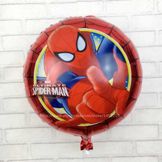 XXPWJ The new aluminum balloons wedding birthday party, children's toys, decorative 18 inches Spiderman balloon wholesale M-015