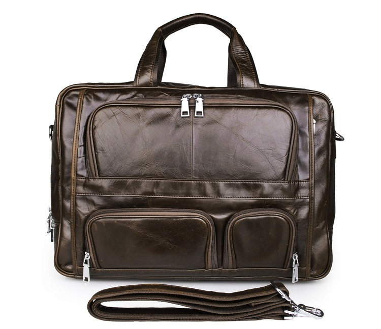 100% Genuine Vintage Leather Laptop Bag Mens JMD Briefcase Portfolio Handbag 7289C guarantee genuine leather vintage style briefcase jmd business laptop bag 7085c 1