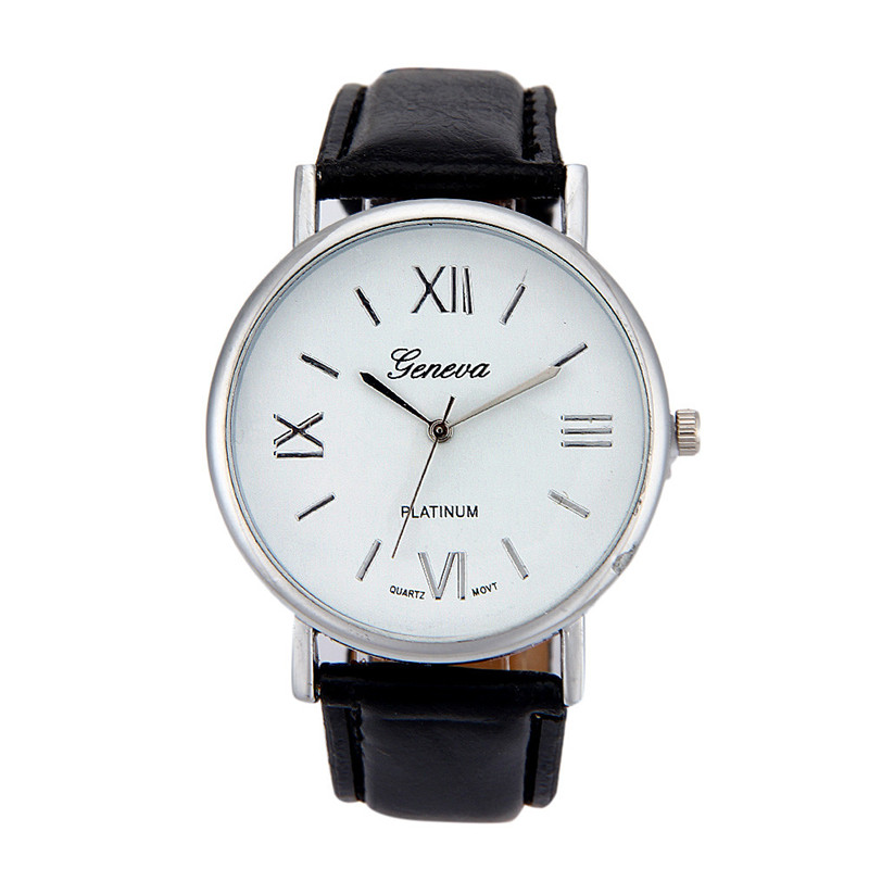 Amazing Fashion Simple Clock Analog Saat Pin Buckle L #