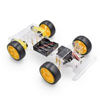 Steering Engine 4 Wheel 2 Motor Smart Robot Car Chassis Kits DIY For Ar Duino