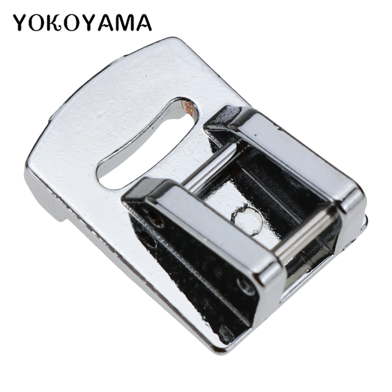 YOKOYAMA Fold Presser Foot Sewing Parts Home DIY Embroidery Accessories Sewing Machine Pressure Foot Tools For Brother Single