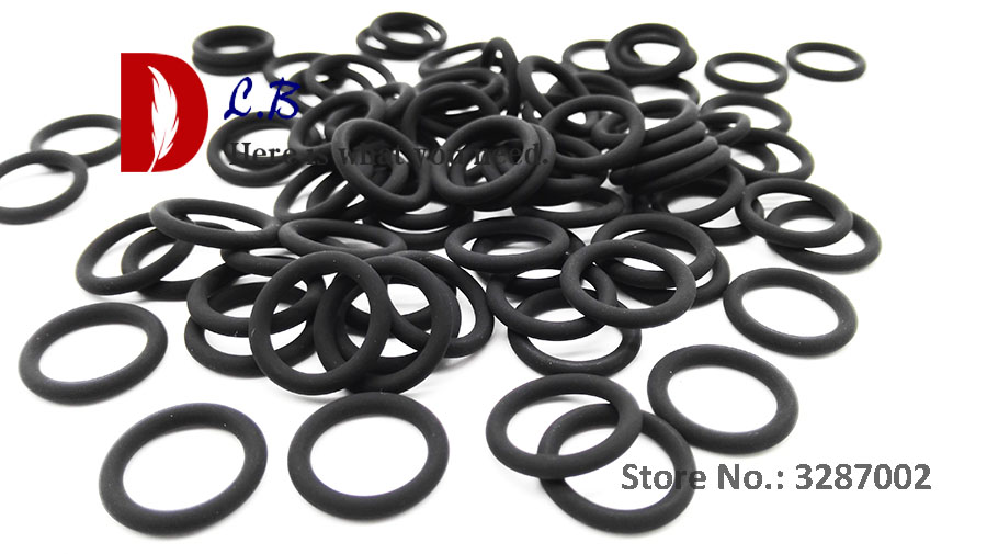 SN-T QTY:100 select out diameter Rubber Metric O-Ring Section 1mm