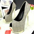 High-heel shoes woman super high 2017 fashion women pumps black strap heels platform shoes high quality shoes women bran
