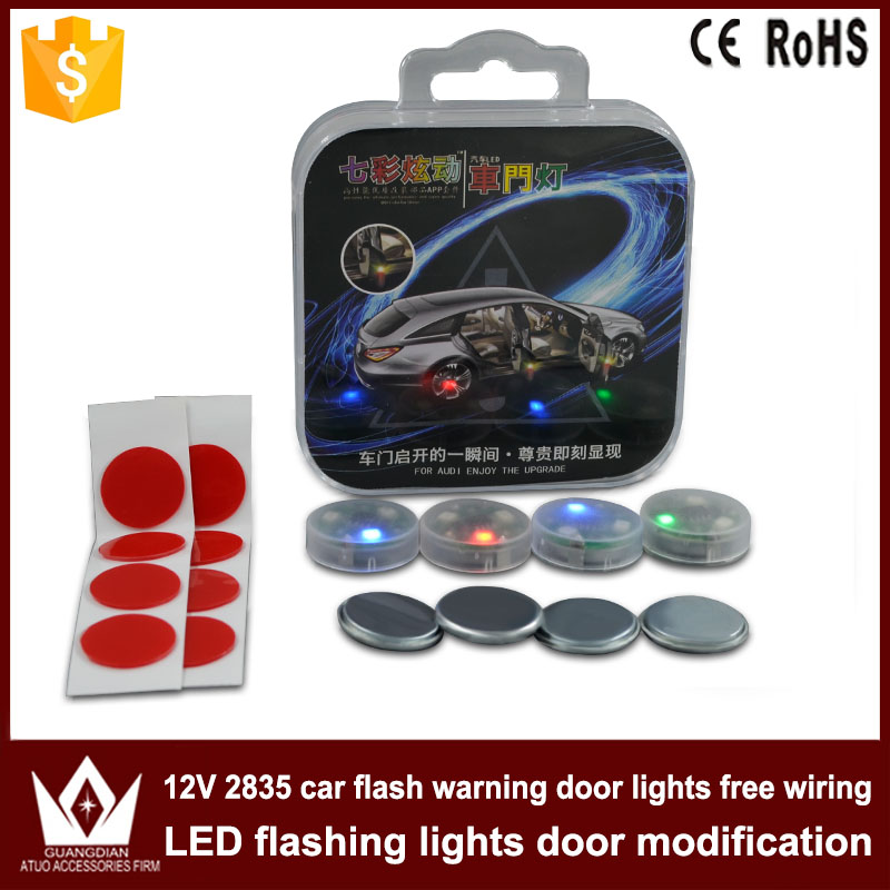 US $11 58 5% OFF|Tcart 4x Car LED Door Opened Flash Warning Signal Lights  RGB Wireless Decorative Avoid Crash Lamps For Audi A3 A6 8P Accessories-in