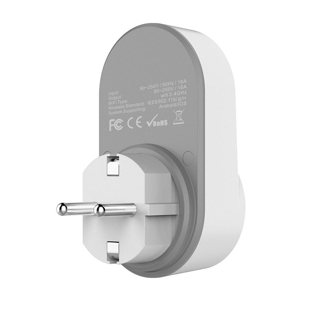 Mini Wi-Fi Smart Socket Plug App Remote Control Timing Switch 110V-240V Wifi Socket Working for Amazon Alexa and Google US/EU/UK