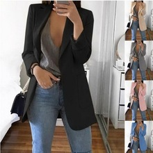 Casual Solid Suits for Women Blazer Jacket Office Lady Femin
