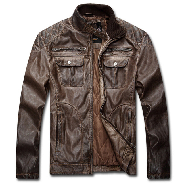 Winter Leather Jacket Men Motorcycle Leather jackets jaqueta de couro masculina Punk Coat Plus size 3XL bomber jacket for men