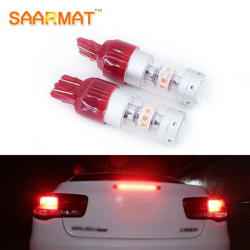 Пара canbus нет ошибка в T20 w21/5 Вт 7443 светодиодный стоп/хвост лампы стоп-сигналы красный 12В для Mazda mazda2 автомобиль Мазда3 модели mazda5 модели Mazda6 СХ-5 СХ-7