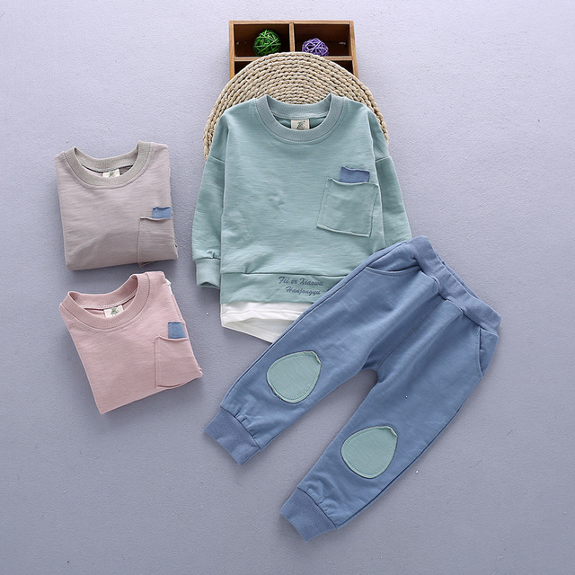 2PC Toddler Baby Boys Clothes Outfit Infant Boy Kids Shirt Tops+Pants Casual Clothing Autumn/Summer Children Clothing 1-4Years