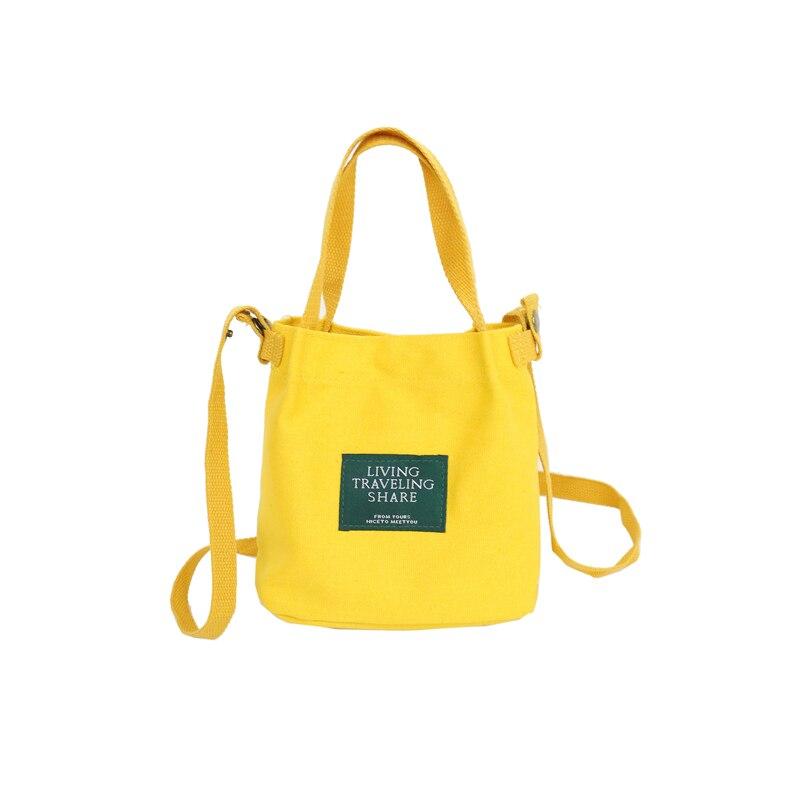 Women's Canvas Bucket Bag Messenger Girls Designer Crossbody Bag