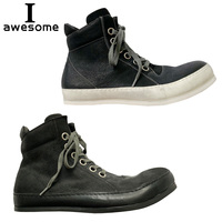 Handmade Genuine Leather Autumn Men Boots Winter Lace Up comfortable Men Ankle Boots Retro Flats Casual Boots Men Rubber sole