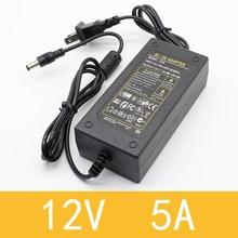 1 шт. 12V5A AC 100 V-240 V 60W преобразователь Мощность адаптер DC12V 5A 2.1mm-2,5 мм* 5,0 мм штекером постоянного тока для подключения к Питание адаптер
