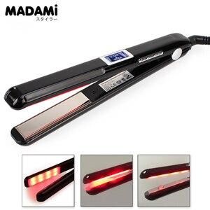 Image 2 - Madami LCD Ultrasonic Infrared Hair Care Tool Hair Iron Keratin Treatment Argan Oil Recover Damaged Hair Smooth Treatment Iron