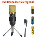MK-F100TL USB Конденсаторный Микрофон Профессиональный Микрофон для Записи Видео Караоке Радио Студийный Микрофон для Компьютера ПК