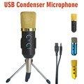 MK-F100TL USB Karaoke Microfone Condensador Microfone Profissional para Gravação De Vídeo Estúdio de Rádio Microfone para Computador PC