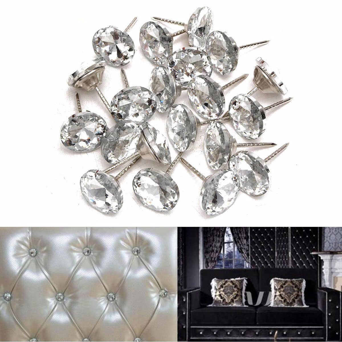 20 Pcs Per Pack Kristal Gesper Tas Lembut Sofa Kuku Berlian Buckle Berlian Tombol Latar Belakang Dekoratif Gesper
