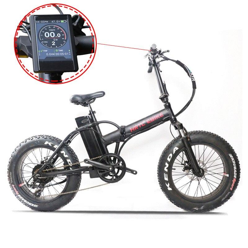 20 pollici bicicletta elettrica 48v500w bafang motore TFT LCD grasso ebike Fold mountain elettrico della bici Spiaggia neve 4.0 Fat tire bicicletta
