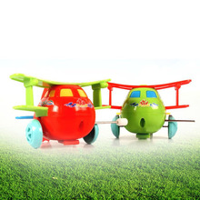 Baby Kids Clockwork Toys Cartoon Plastic Airplane Model Wind Up Toys Running Clockwork Spring Toy  Toys for Children Gift
